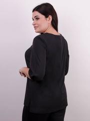 Леона. Оригінальна блуза плюс сайз. Чорний.