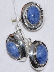 Фонте (кольцо + серьги из серебра)