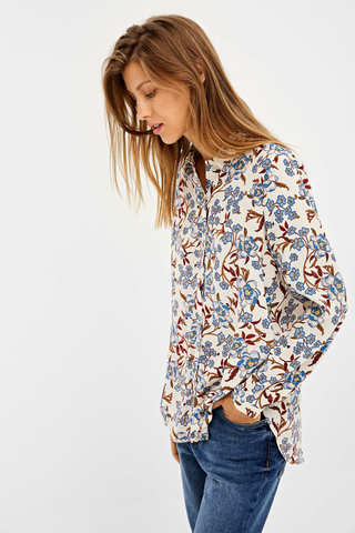 Базова сорочка з принтом