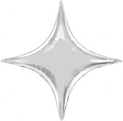 К Звезда, 4х-конечная, Серебро, 28''/71 см,1 шт.