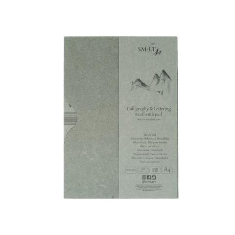 Альбом SM-LT Authentic Calligraphy & Lettering, А4, 50 л, склейка в папке