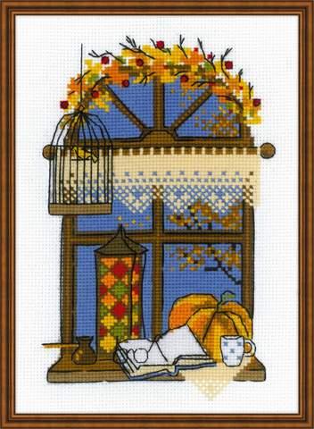 Набор для вышивания крестом «Осеннее окошко» (1593)