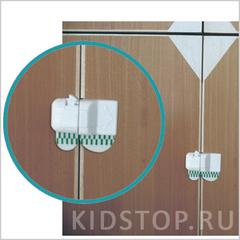Пластиковый замок на дверцы шкафа 2шт./уп.