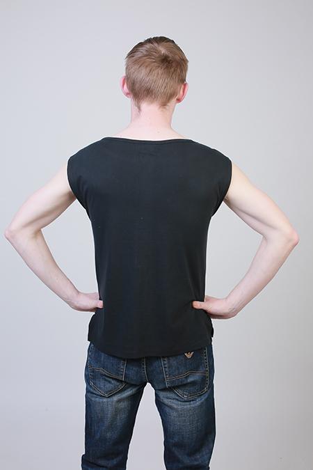 Лекала мужской футболки со спущенной проймой