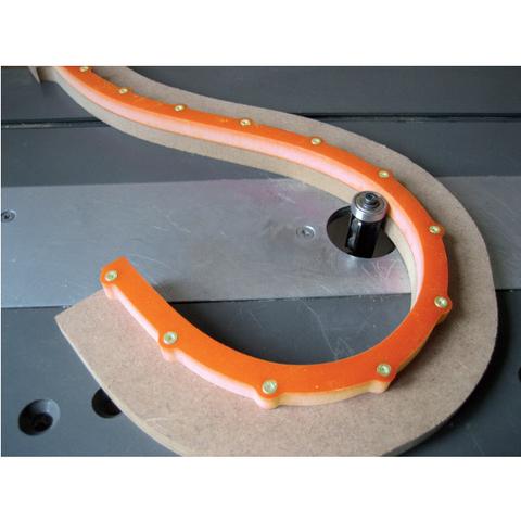Шаблон гибкий для фигурного фрезерования CMT TMP-1000
