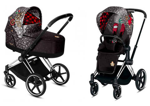 Детская коляска Cybex Priam III 2 в 1 FE Rebellious шасси Matt Black