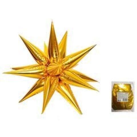 К Звезда составная 12 лучиков Золото в упаковке, 20