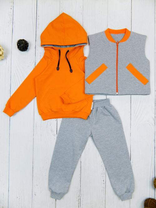 Костюм 3081, оранжево-серый