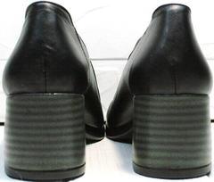 Стильные женские туфли каблук 6 см осень весна H&G BEM 107 03L-Black.