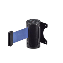 Столбик ограждения TEH_Настенный блок окрашенный с вытяж.лентой 3 м синий