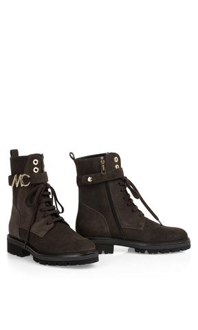 Marc Cain Ботинки -дерби замшевые на молнии и шнуровке