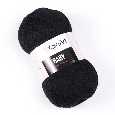 Пряжа Baby (Бэби) Черный. Артикул: 585