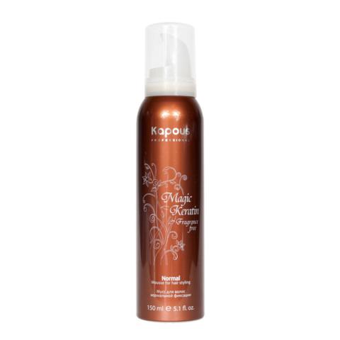Лак аэрозольный для волос нормальной фиксации с кератином,Kapous Magic Keratin,250 мл.