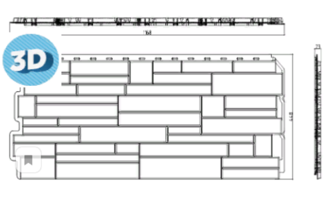 Фасадная панель Альта Профиль Скалистый Камень Памир 1160х450 мм