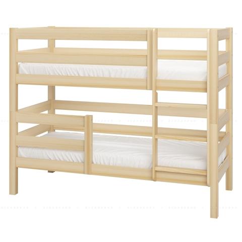 Образец крепления короткого бортика на двухъярусной кровати. Расстояние от борта до лестницы 60 см.