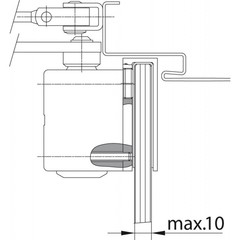 A164 Пластина для цельностеклянных дверей для доводчика DC-200 ASSA ABLOY