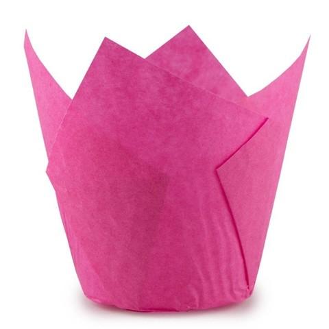 Форма-тюльпан розовая, 20шт
