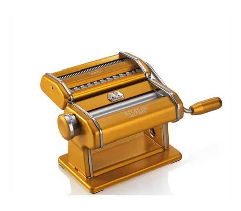 Лапшерезка-тестораскатка Atlas 150 в золотом корпусе, по выгодной цене, 100% Италия, фото