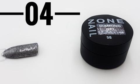 Гель-шиммер ONENAIL Diamond Gel 04 5г