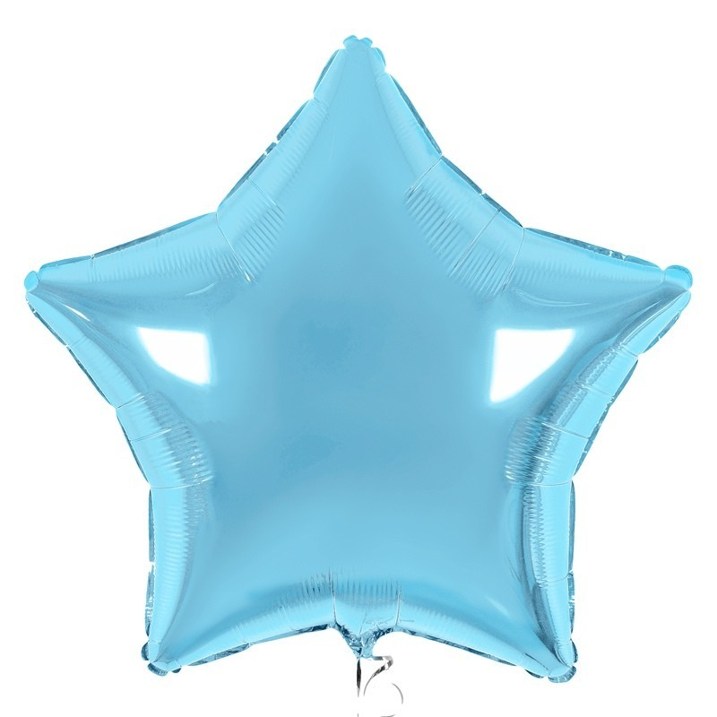 Фольгированный шар БОЛЬШАЯ ЗВЕЗДА, голубой