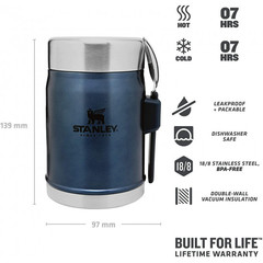 Термос для еды Stanley Classic  0.4 L Синий - 2