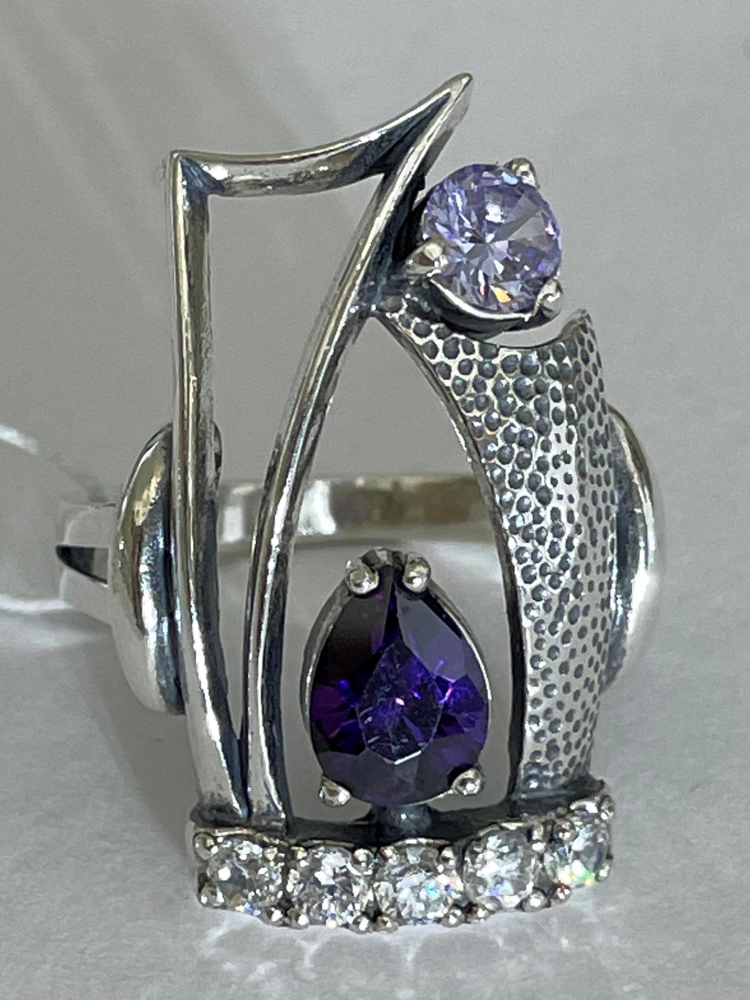Амбуаз (кольцо из серебра)