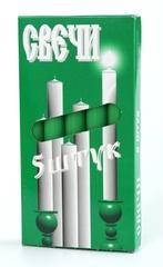 Набор зеленых свеч (5 шт)