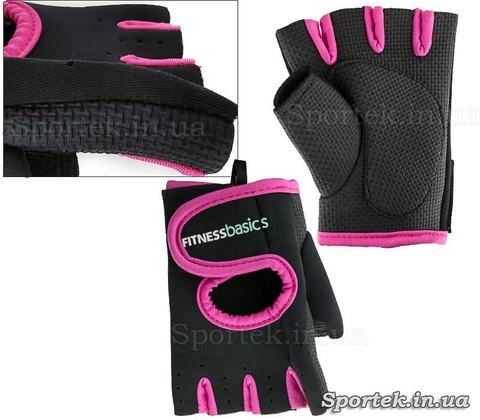 Неопреновые перчатки без пальцев FITNESS BASICS BC-893 размер S-XL