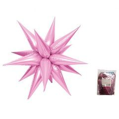 К Звезда составная 12 лучиков Светло-Розовый в упаковке, 20