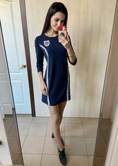 Герда. Женское платье спортивного стиля. Синий