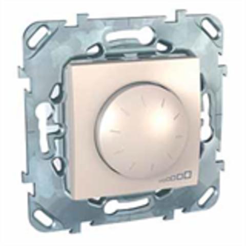 Светорегулятор/Диммер люминесцентных ламп 1-10 В. поворотно-нажимной. Цвет Бежевый. Schneider electric Unica. MGU5.510.25ZD