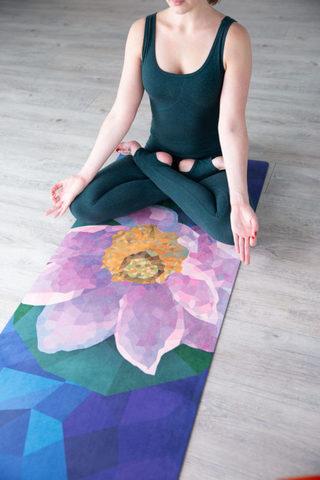 Коврик для йоги Lotus Rose YY 178*61*0,3 см из микрофибры и каучука