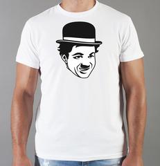 Футболка с принтом Чарли Чаплин (Charlie Chaplin) белая 0010