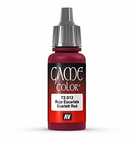Game Color Scarlett Red 17 ml.