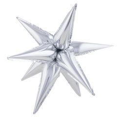 К Звезда составная 12 лучиков Серебро в упаковке, 20