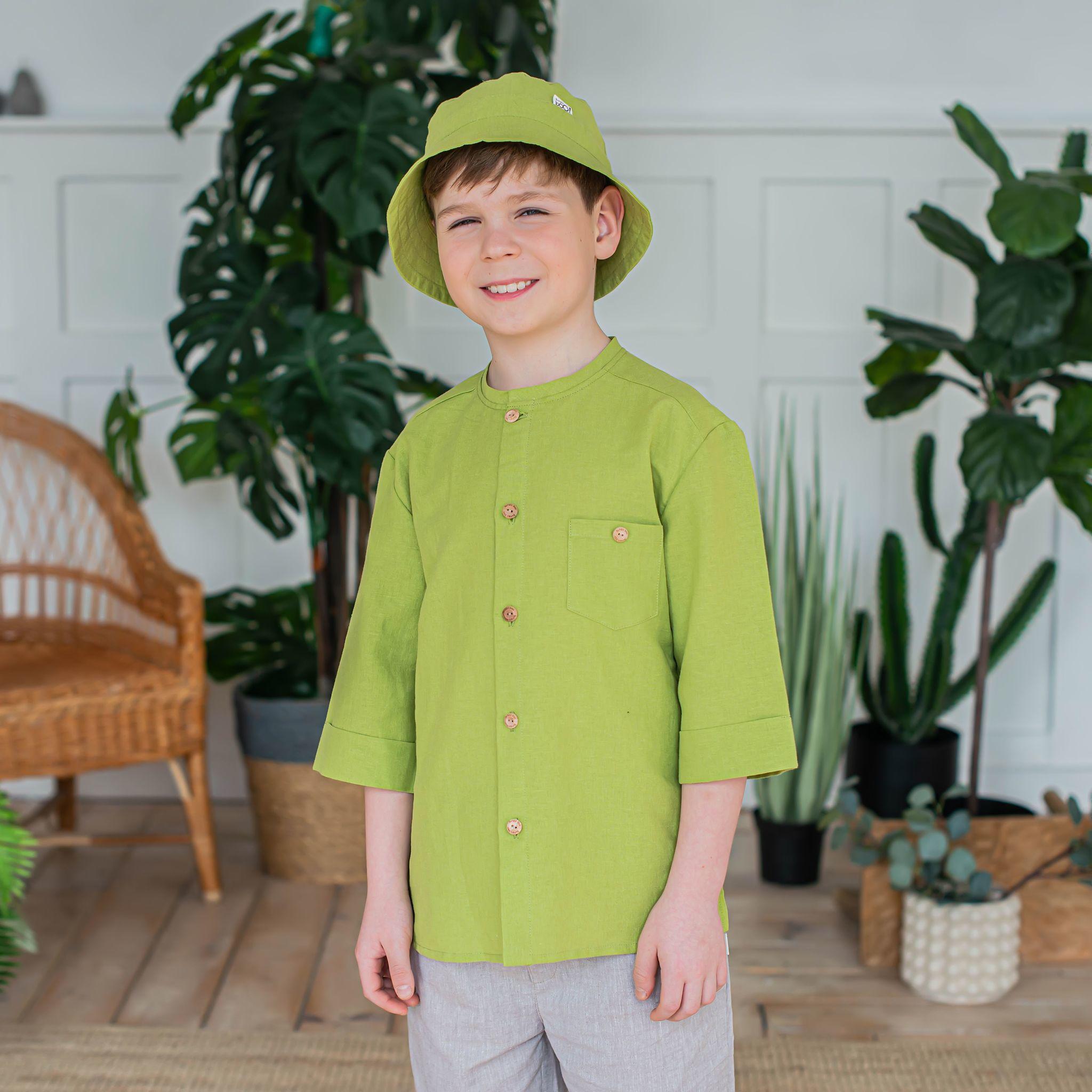 Cotton shirt for teens - Lime