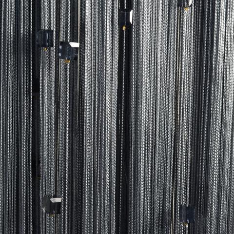 Шторы нити со стеклярусом (кубики) - Темно-серые. Ш-300см., В-280см. Арт.207