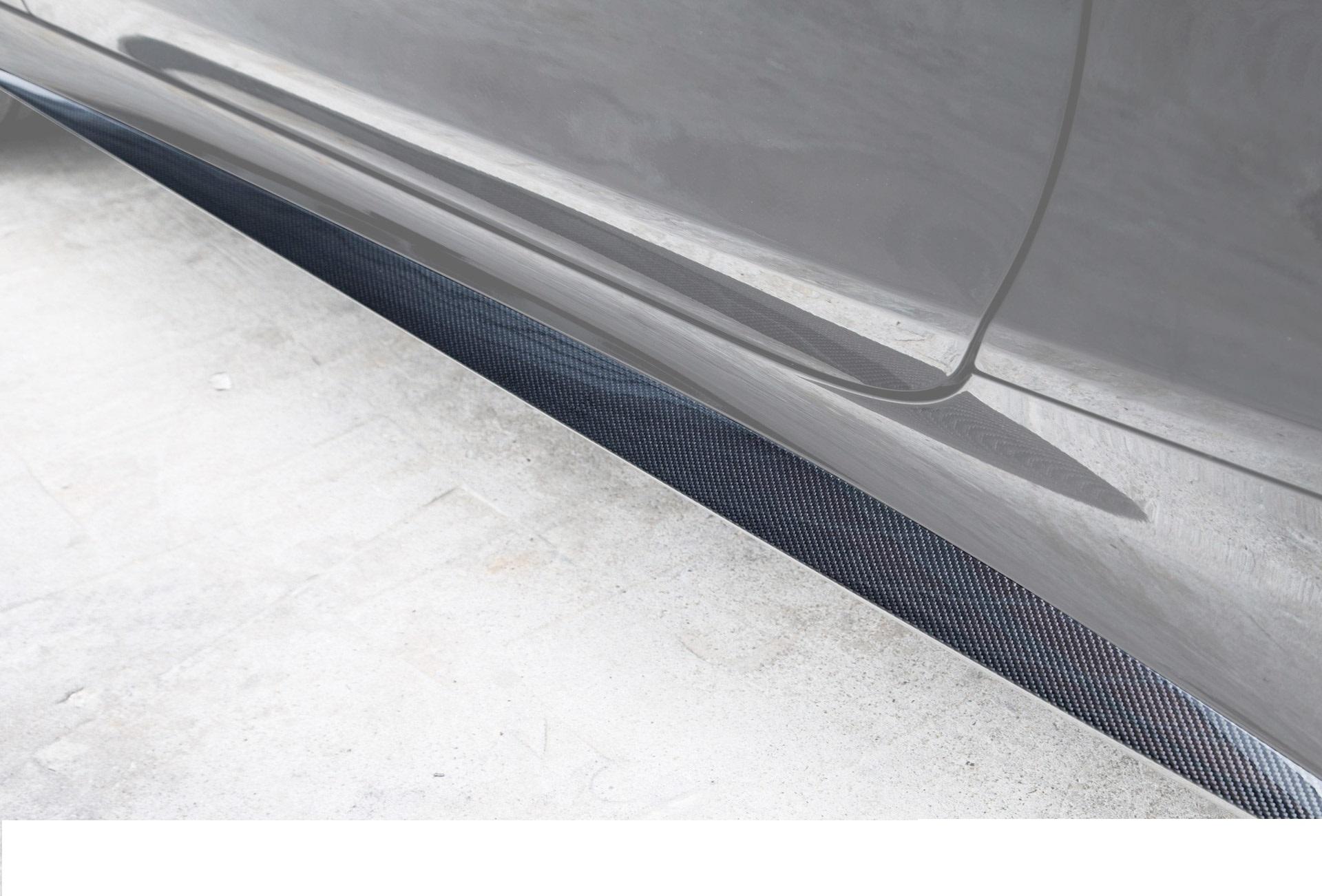 Карбоновые вставки в пороги S63 amg coupe c217