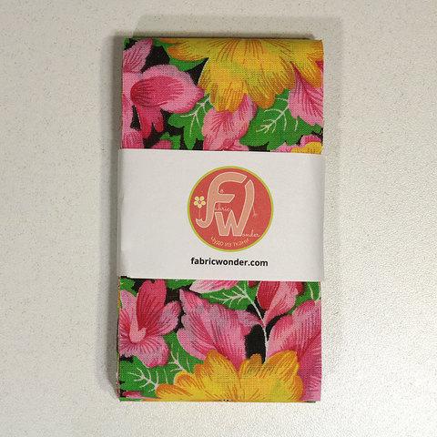 ЛЕНТА ДЛЯ ЛОСКУТНОГО ШИТЬЯ желто-розовые цветы