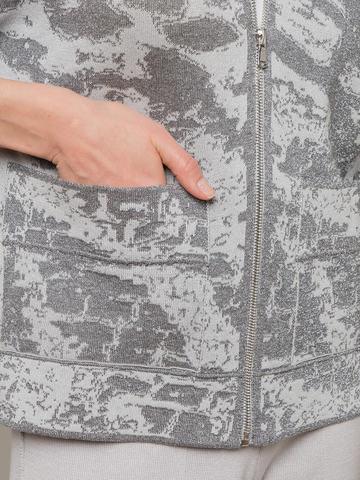 Женский жакет серого цвета на молнии - фото 2
