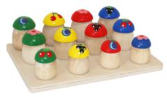 Учимся считать с набором грибочков, Краснокамская игрушка