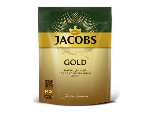 Кофе растворимый Jacobs Gold, 140 г