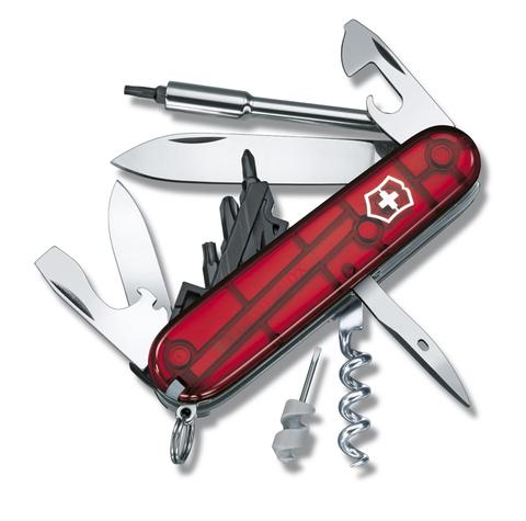 Нож Victorinox CyberTool, 91 мм, 29 функций, полупрозрачный красный123