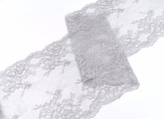 Эластичное кружево, 23 см, светло-серое, (Арт: EK-2207), м