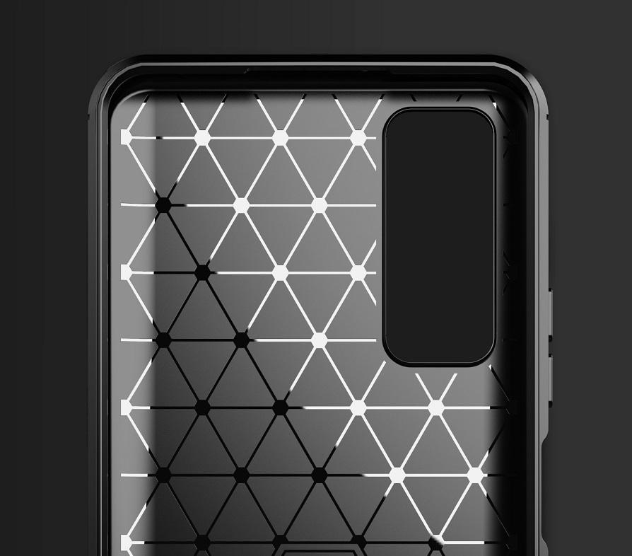 Чехол черного цвета для Huawei P Smart с 2021 года, серии Carbon от Caseport