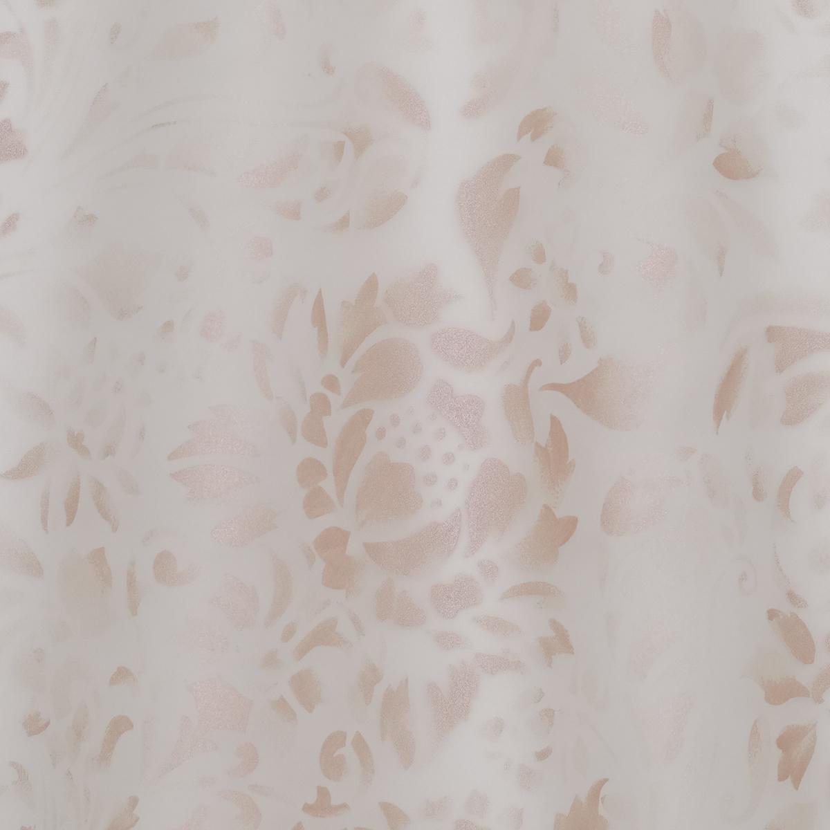 Молочная органза с перламутрово-розовой шелкографией