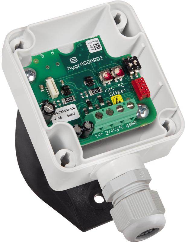 Калибруемый канальный датчик влажности и температуры KFTF-U PT1000
