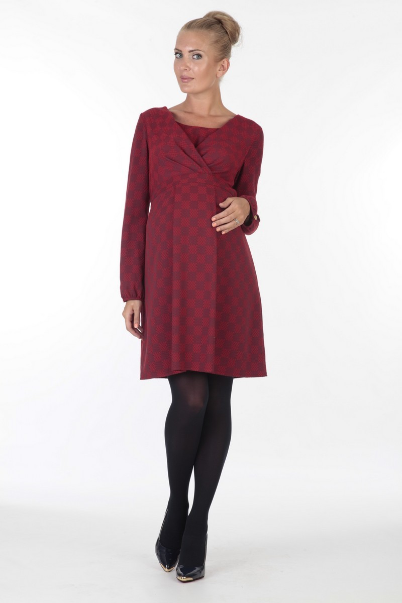 Платье для беременных 05699 красный