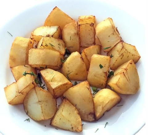 Картофель отварной, обжаренный