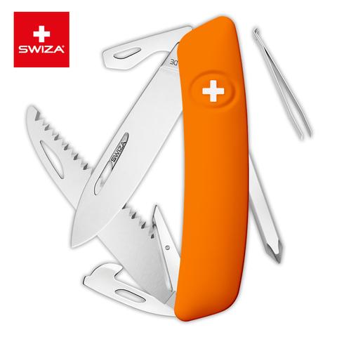 Швейцарский нож SWIZA D06 Standard, 95 мм, 12 функций, оранжевый